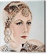 Greta Garbo As Matahari Canvas Print