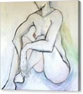 Gretchen - Female Nude Drawing Canvas Print