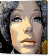 Grey Glitter Gertrude Canvas Print