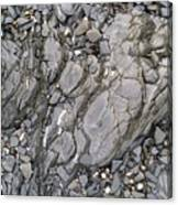 Grey Rocky Shore. Canvas Print