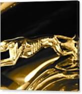 Greyhound hoood ornament Canvas Print