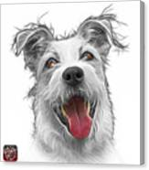 Greyscale Terrier Mix 2989 - Wb Canvas Print