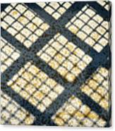 Grid Shadow On Concrete Canvas Print