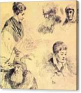 Griffonnage 1814 Canvas Print
