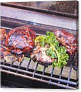 Grilled Meat Canvas Print