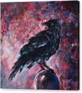 Grim And Ancient Raven Canvas Print