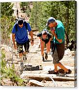 Grinding It Out On The Manitou Incline And Barr Trail Canvas Print