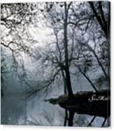Grings Mill Fog 1043 Canvas Print