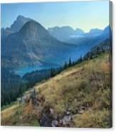 Grinnell Glacier Trail Hiker Canvas Print