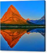 Grinnell Point Alpenglow Panorama Canvas Print
