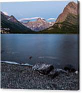Grinnell Point Over Swiftcurrent Lake Canvas Print