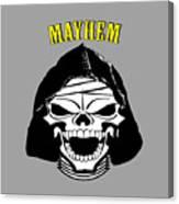Grinning Mayhem Death Skull Canvas Print
