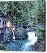 Griss Mill Watercolor Canvas Print