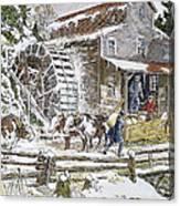 Grist Mill, 19th Century Canvas Print