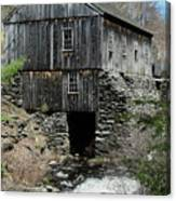 Grist Mill At Moore State Park Canvas Print