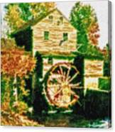 Grist Mill Tranquility Canvas Print