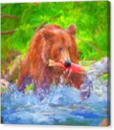 Grizzly Delights Canvas Print