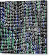 Groenzwart Canvas Print