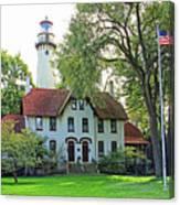 Grosse Point Light Station Canvas Print