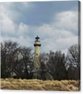 Grosse Point Lighthouse Portrait Canvas Print