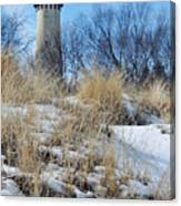 Grosse Point Lighthouse Winter Dunes Canvas Print