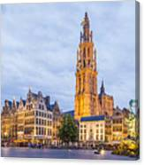 Grote Markt Square In Antwerp Canvas Print