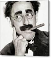 Groucho Marx, Vintage Comedy Actor Canvas Print