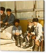Group Of Uzbek Retirees Canvas Print