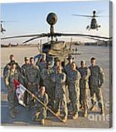 Group Photo Of U.s. Soldiers At Cob Canvas Print