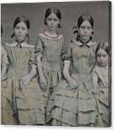 Group Portrait Of Five Sisters Canvas Print