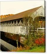 Groveton-northumberland Covered Bridge Canvas Print
