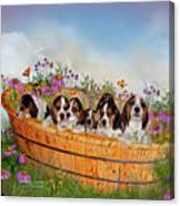 Growing Puppies Canvas Print