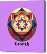 Growth text Canvas Print