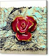 Grum Wrapper - Teal Canvas Print