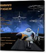 Grumman F-11 Tiger Canvas Print