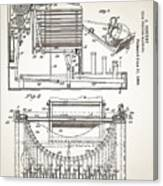 Grundy Typewriter Patent 1889 Canvas Print