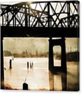 Grunge River Canvas Print