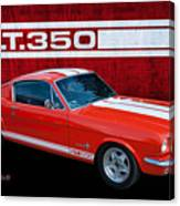 Red Gt 350 Mustang Canvas Print