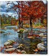 Guadalupe River In Autumn Canvas Print