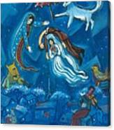 Guadalupe Visits Chagall Canvas Print