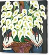 Guadalupe Visits Diego Rivera Canvas Print