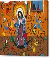 Guadalupe Visits Miro Canvas Print