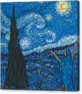 Guadalupe Visits Van Gogh Canvas Print