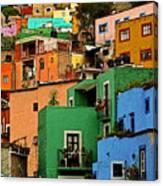 Guanajuato Hillside 2 Canvas Print
