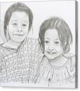 Guatemalan Friends Canvas Print