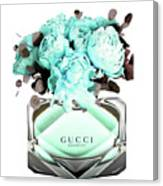 Gucci Blue Perfume Canvas Print