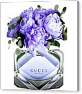 Gucci Perfume With Flower Canvas Print