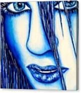 Guess U Like Me In Blue Canvas Print