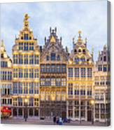 Guild Houses At The Grote Markt Canvas Print