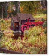 Guildhall Grist Mill In Fall Canvas Print